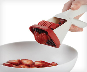 portable hand held strawberry slicer