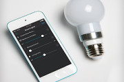 Wireless LED smart bulb controlled from iphone