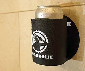 Beer Can holder sticks to Shower Wall