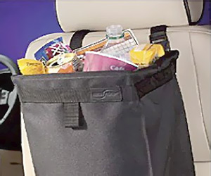 Car Litter Trash bag attach to seat head rest