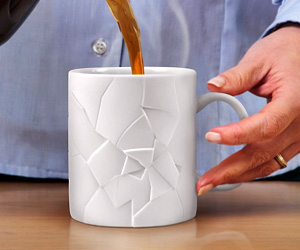 Coffee Mug with Cracks office gag gift