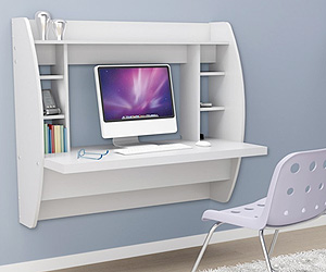 Floating Wall mount Desk for Computer and home office work