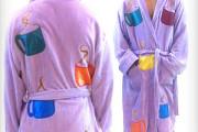 Brad Pitt fight club movie bathrobe with coffee cup design