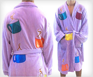 Brad Pitt fight club movie bathrobe with coffee cup design
