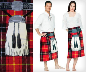 Kilt Beach Towel gift for Irishman or Scotsman