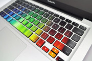 Rainbow colorful sticker for MacBook keyboard