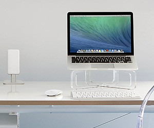 Transparent MacBook Stand
