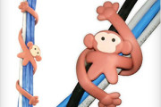 Monkey tie for cables and cords organize