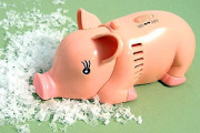 Small Pig shape tabletop Vacuum cleaning toy
