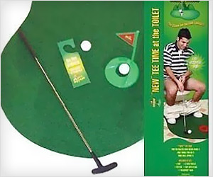 Play Golf at toilet potty seat