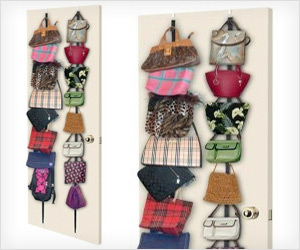 Purse door hanging racks organizer