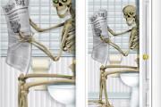 Funny Skeleton Door sticker for Halloween Party