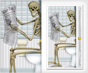 Funny Skeleton Door sticker for Halloween Party