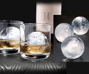 Round sphere shape ice for drinks
