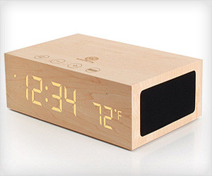 Wooden Clock Speakers