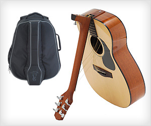Portable fold-able Guitar fits travel bagpack
