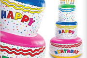 Huge size inflatable birthday cake decoration