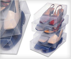 Transparent Shoe Box