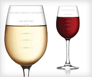 Wine Measuring Glass to put right amount of wine in food