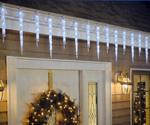 Icicle spikes shape LED lights