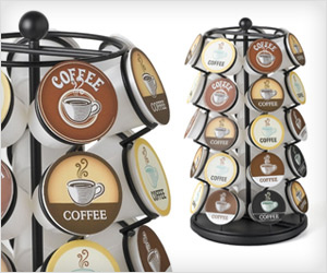 Rotating K Cups holder stand with 35 cups capacity