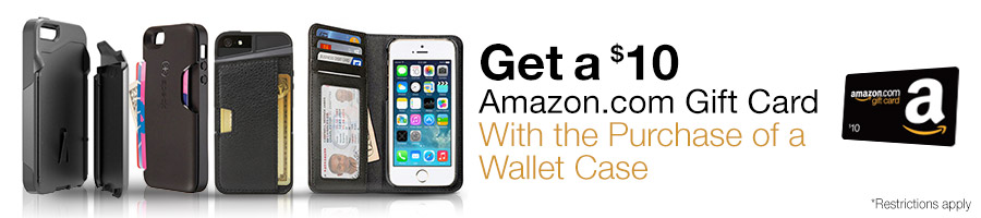 amazon $10 gift coupon on purchase of wallet case of phone