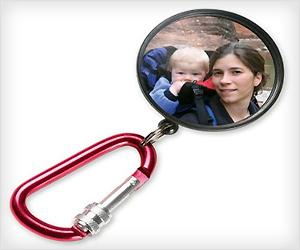 Baby Rearview Mirror to see baby while in bag pack during hiking