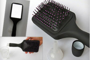 Hair Brush with looking mirror and hidden secret flask for liquid