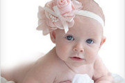 Baby girl flower head band