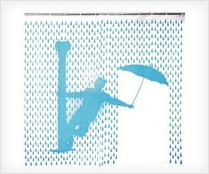 Singing in Rain Shower Curtain