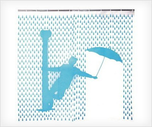 Singing in the rain musical movie Shower Curtain