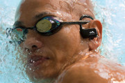 Waterproof music player for swimming, running in rain, workouts in gym